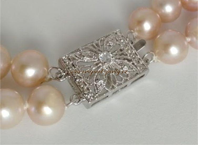 527e804e3 Náhrdelník z růžových perel Glamour